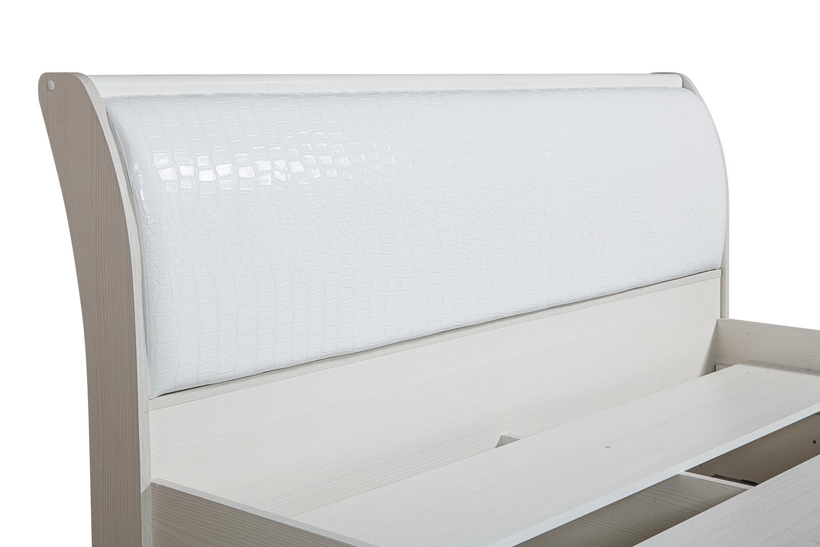 Кровать 06.298 с настилом Мона (белая)