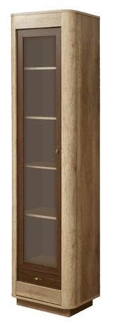 Шкаф с витриной 34.06 Фантазия (дуб каньон/дуб кальяри)