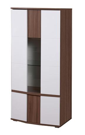 Шкаф с витриной Донна арт.51 (ясень шимо темный)