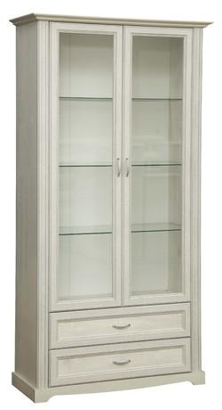 Шкаф с витриной 32.05 Сохо (бетон пайн белый)