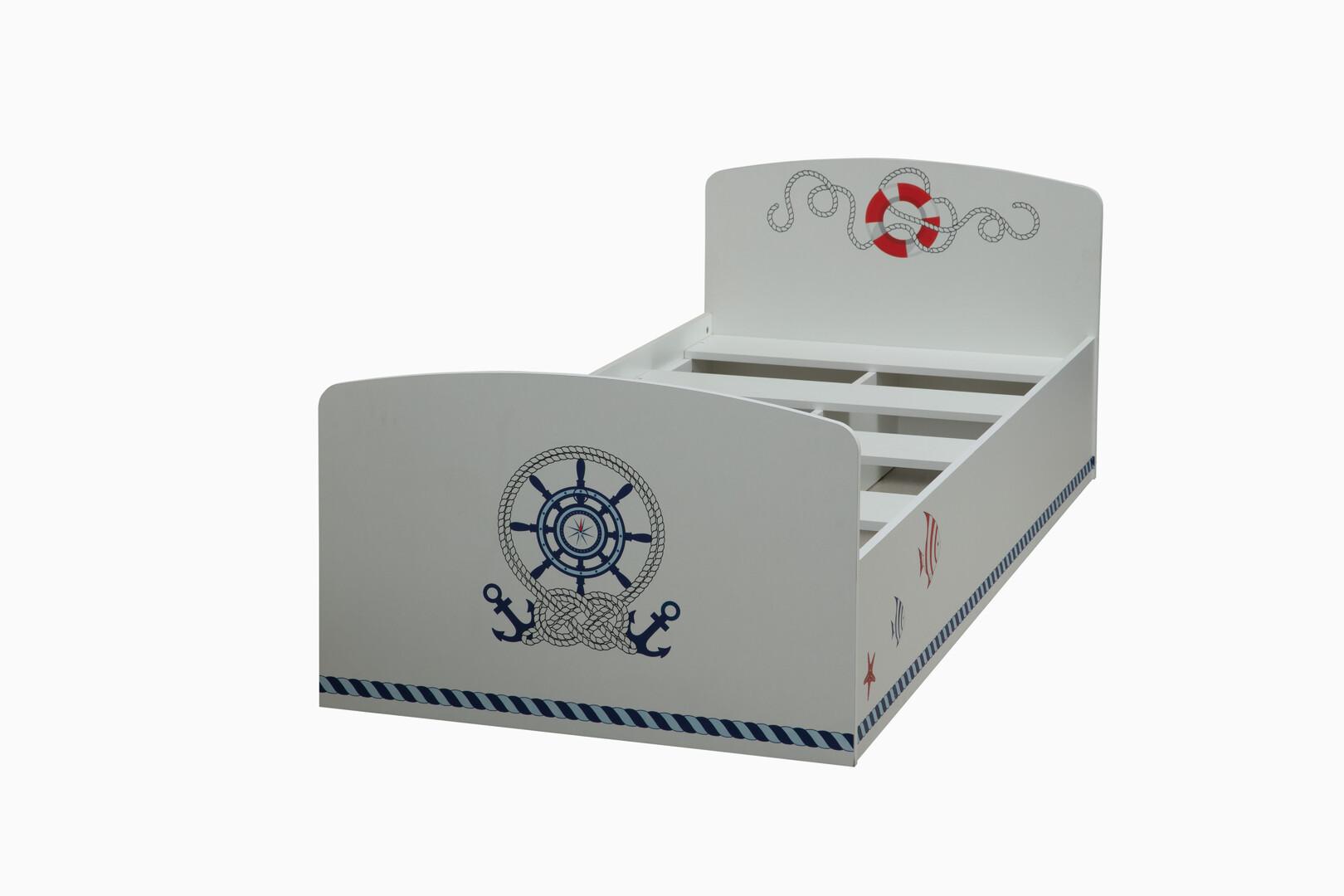 Кровать Лего-2 кораблик (белый)
