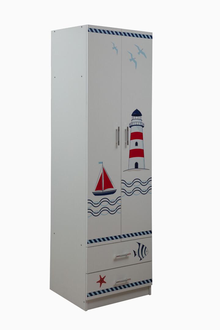 Шкаф Лего 3 кораблик (белый)