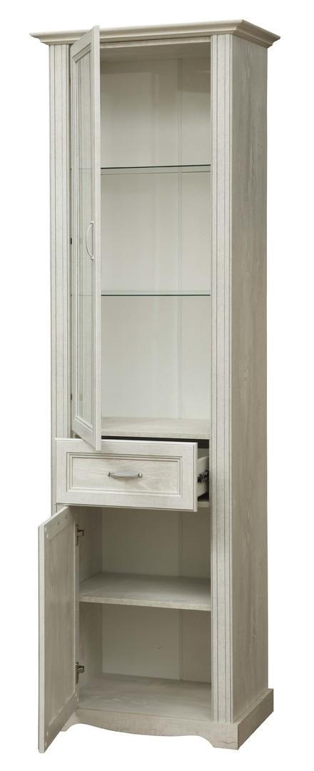 Шкаф с витриной 32.06 Сохо (бетон пайн белый)
