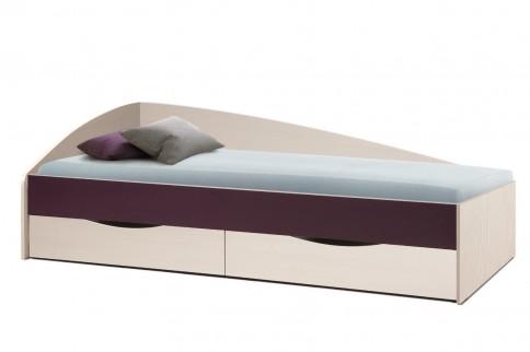 Кровать Фея-3 (вудлайн кремовый/баклажан)