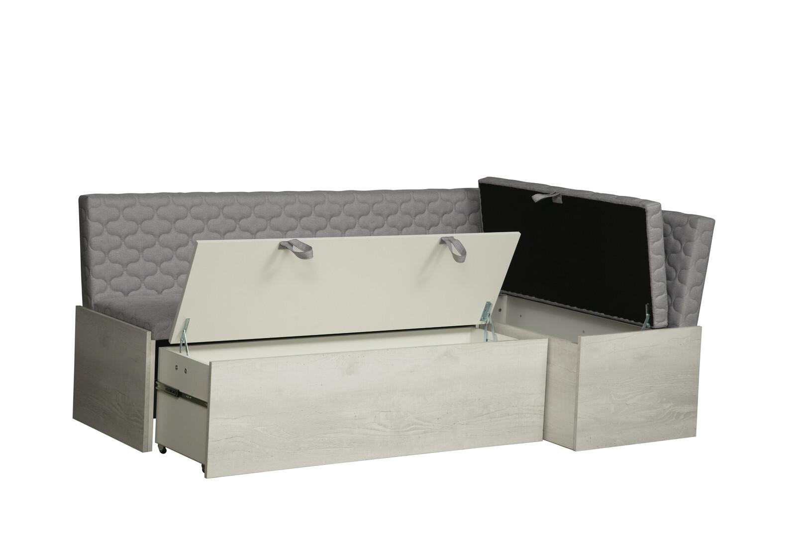 Кухонный уголок Джокер-1(жаккард стронг серый меландж/бетон пайн белый)