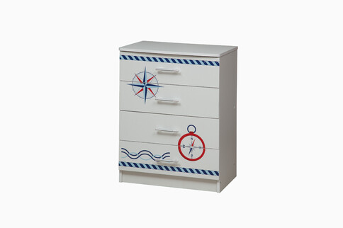 Комод Лего 1 кораблик (белый)
