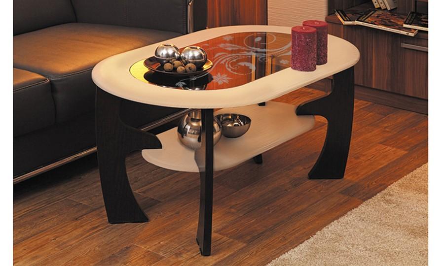 Журнальный столик Маджеста-2 с рисунком (венге/клен азия)