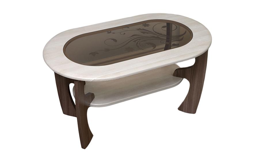 Журнальный столик Маджеста-2 с рисунком (ясень шимо темный/ясень шимо светлый)