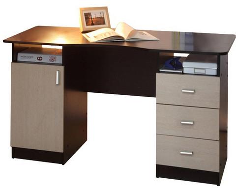 Письменный стол 2-х тумбовый (венге/дуб линдберг)