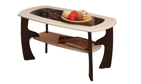 Журнальный столик Маджеста-3 с рисунком (венге/клен азия)