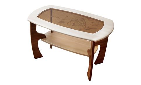 Журнальный столик Маджеста-3 с рисунком (ясень шимо темный/ясень шимо светлый)