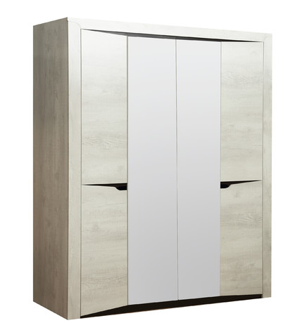 Шкаф 33.01 Лючия (бетон пайн белый/венге)