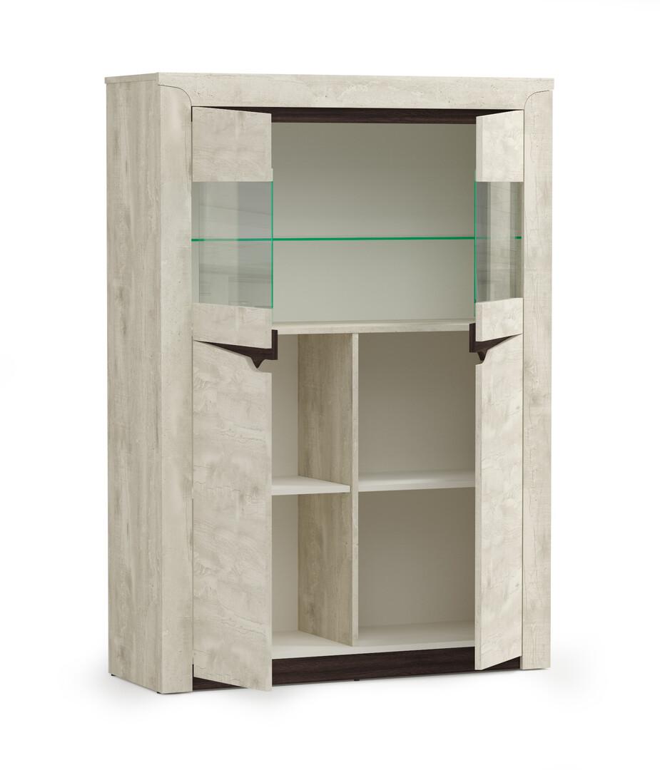 Шкаф 33.15 Лючия (бетон пайн белый/венге)