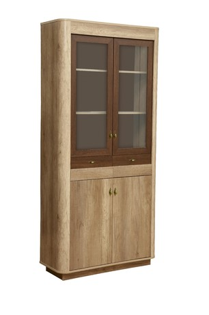 Шкаф с витриной 34.05 Фантазия (дуб каньон/дуб кальяри)