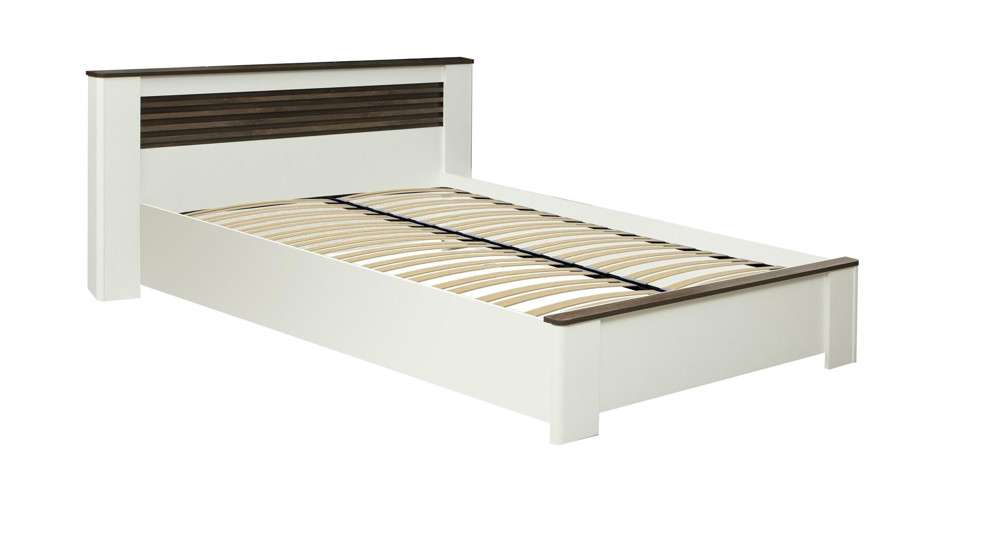Кровать 36.02-02 Амелия (белый лофт/дуб стайлинг)