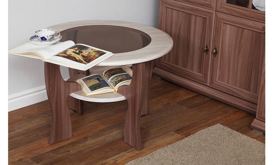 Журнальный столик Маджеста-6 (ясень шимо темный/ясень шимо светлый)