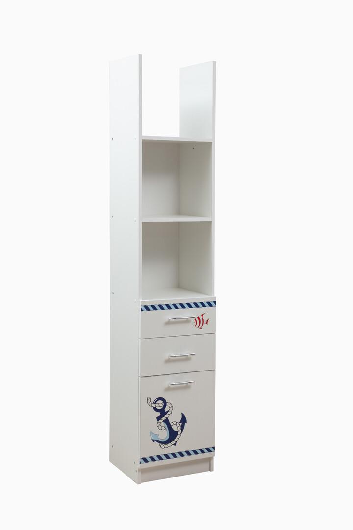 Шкаф Лего 6 кораблик (белый)