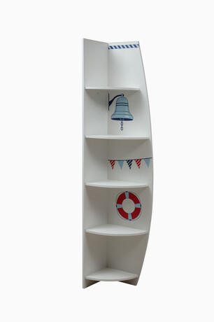 Шкаф Лего 7 правый кораблик (белый)