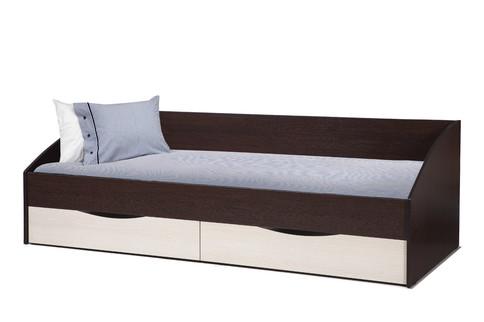 Кровать Фея с ящиками (венге/дуб линдберг)