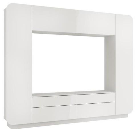 Стенка Лаванда-2 (белый глянец)