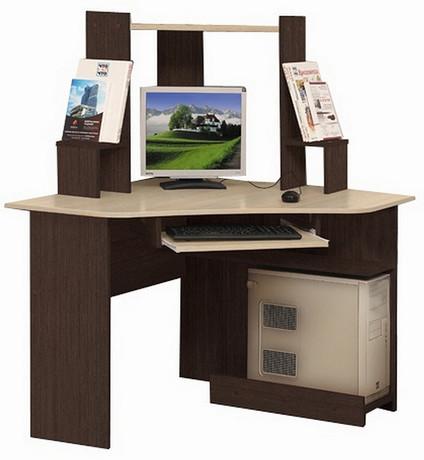 Компьютерный стол ПКС-7 (венге/дуб линдберг)