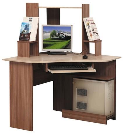 Компьютерный стол ПКС-7 (ясень шимо темный/ясень шимо светлый)