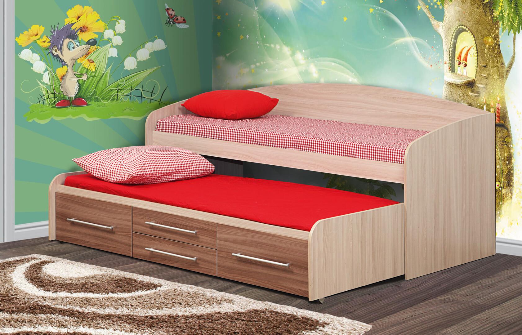 Кровать двухъярусная Адель-5 (ясень шимо светлый/темный)