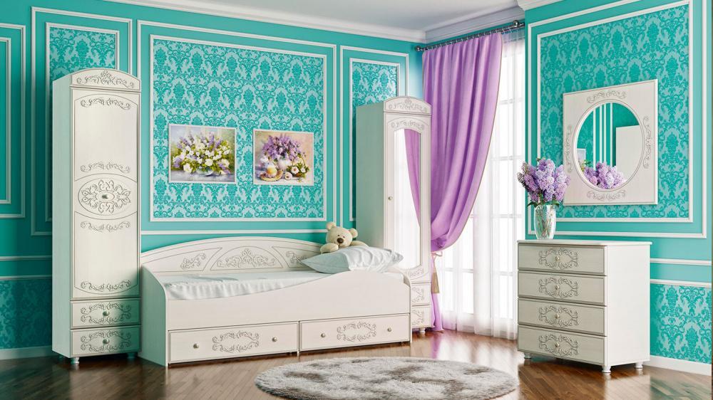 Комплект мебели Каролина 1 (вудлайн кремовый/сандал белый)