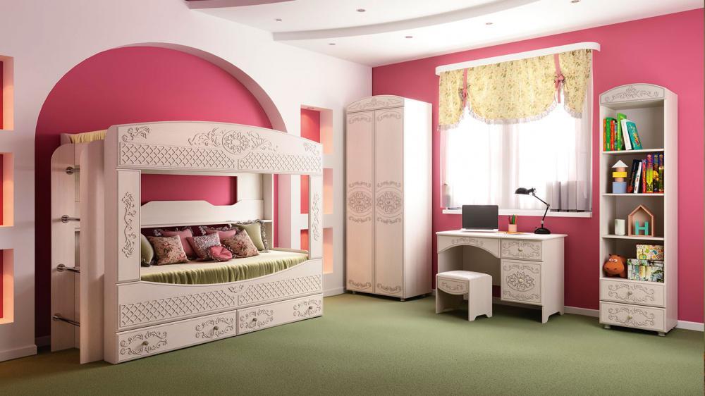 Комплект мебели Каролина 2 (вудлайн кремовый/сандал белый)