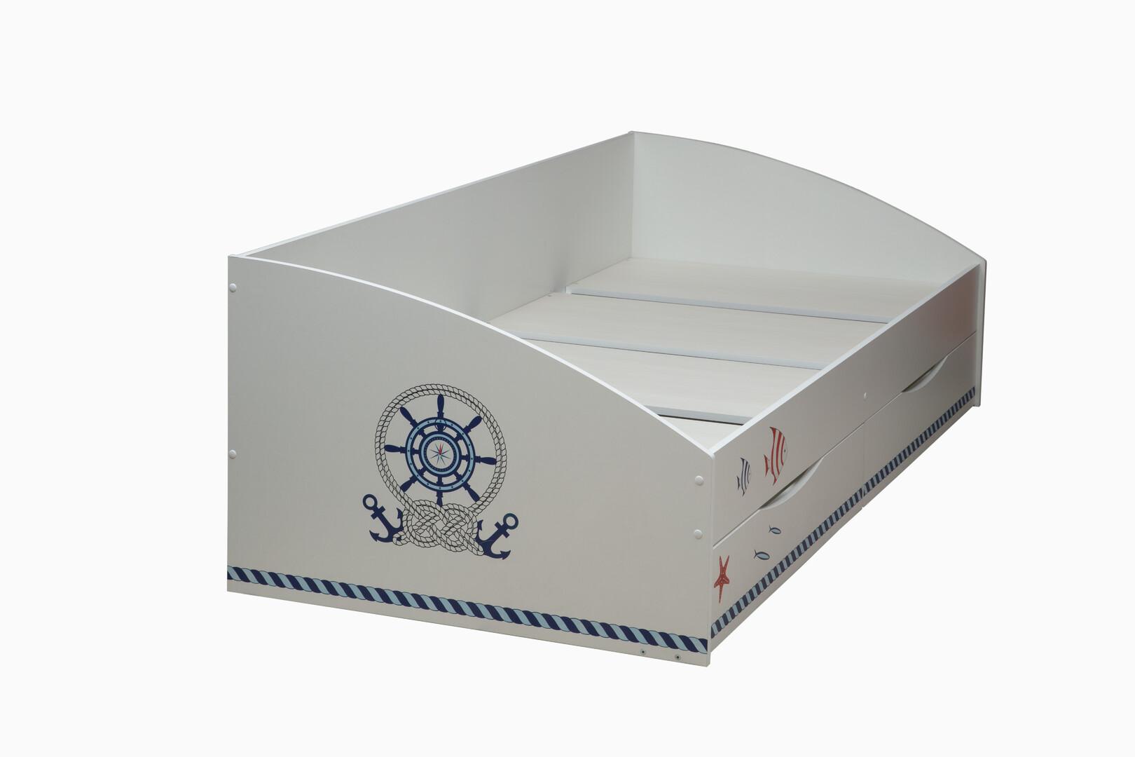 Кровать Фея 3 кораблик (белый)