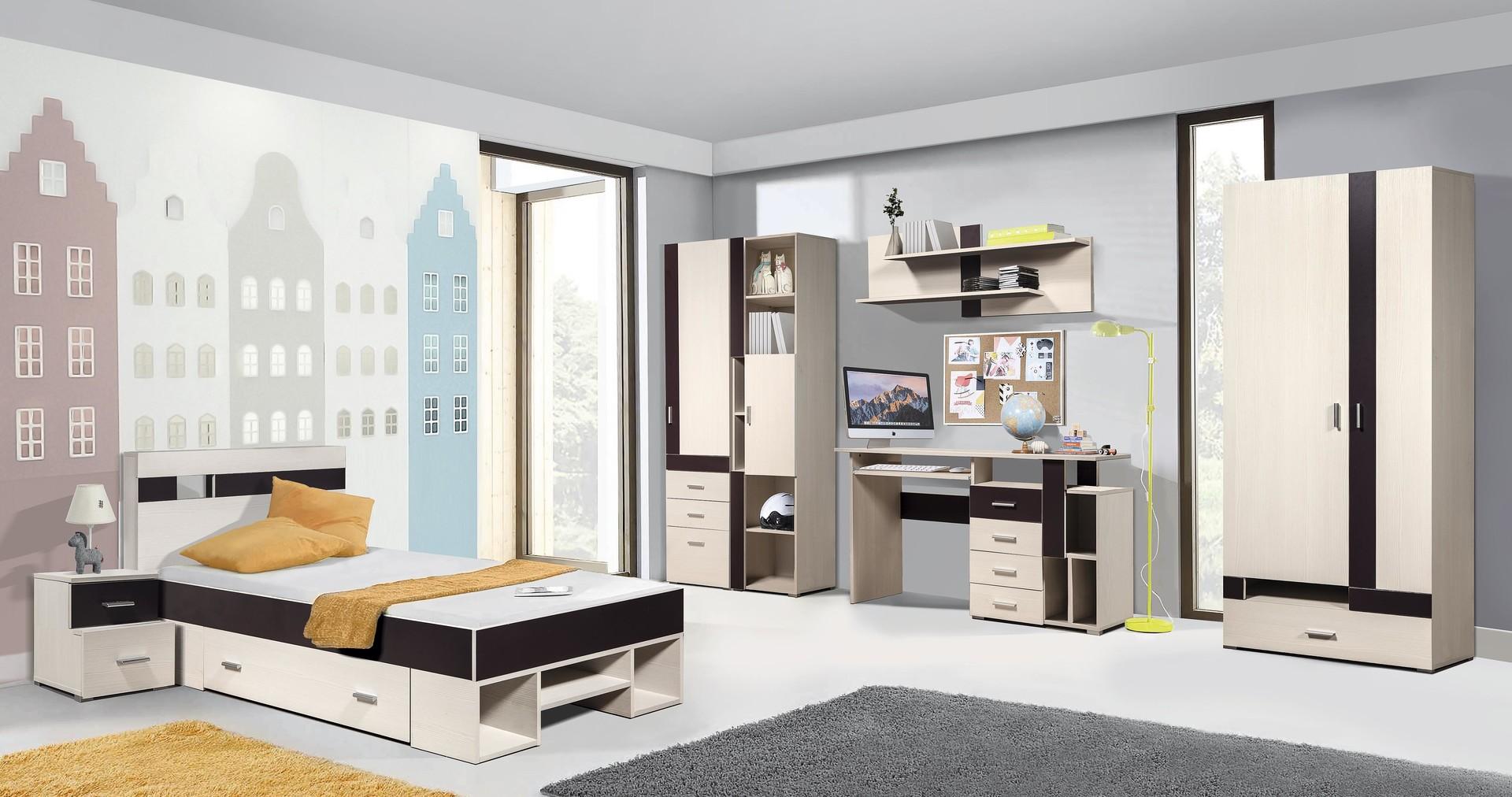 Комплект мебели Некст (вудлайн кремовый/баклажан)