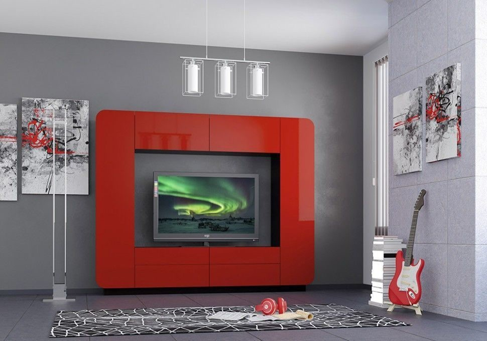 Стенка Лаванда-2 (красный глянец)