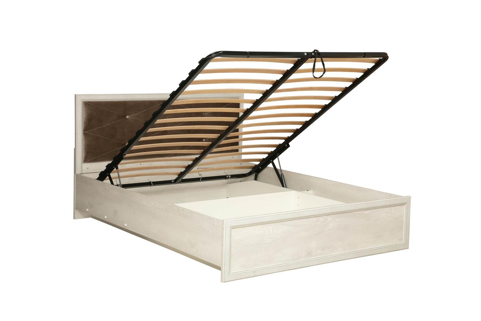 Кровать 32.26-01 Сохо (бетон пайн белый)