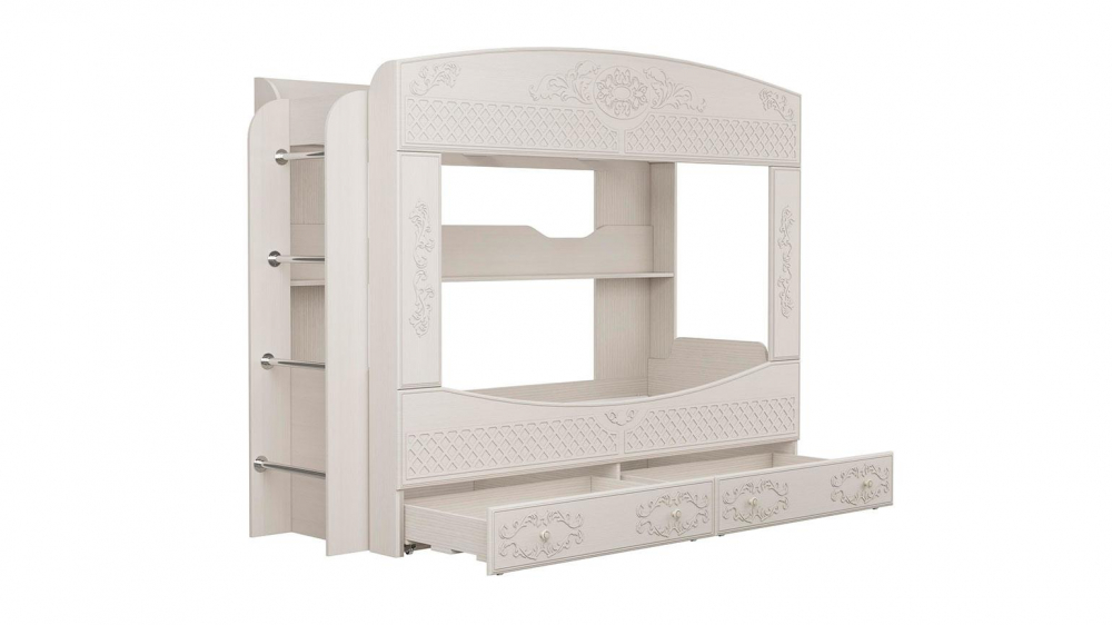 Двухъярусная кровать Каролина (вудлайн кремовый/сандал белый)