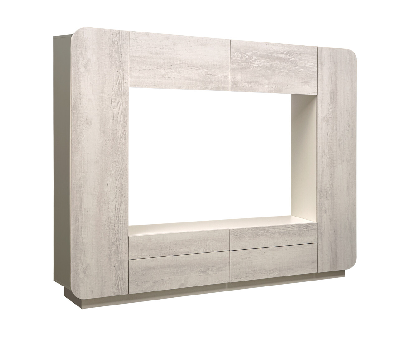 Стенка Лаванда 2 (бетон пайн белый)