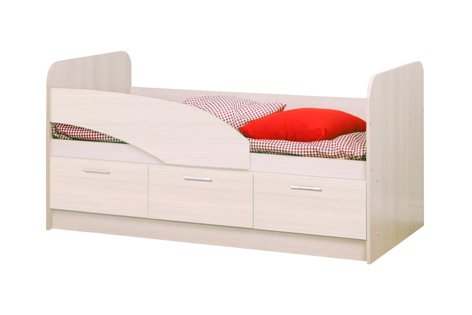 Кровать одинарная 06.223 ЛДСП (дуб линдберг)