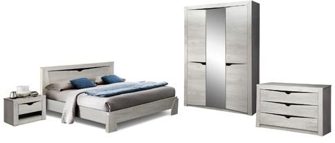 Комплект мебели для спальни Лючия 3-х дверный (бетон пайн белый/венге)