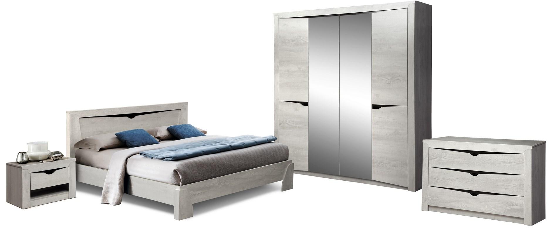 Комплект мебели для спальни Лючия 4-х дверный (бетон пайн белый/венге)