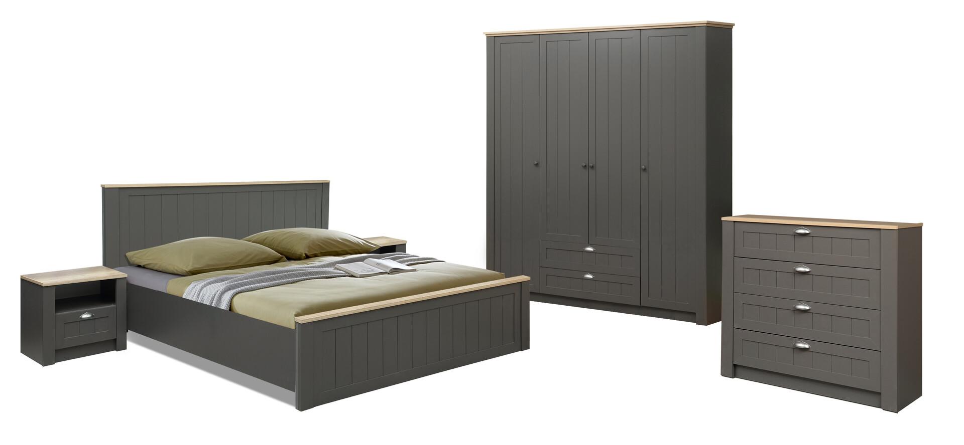 Комплект мебели для спальни Прованс (диамант серый/ дуб каньон)
