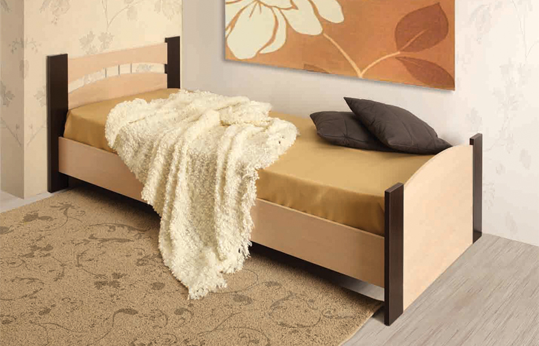 Кровать 900 (дуб линдберг/венге)