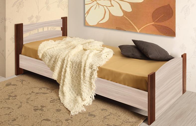 Кровать 900 (дуб линдберг/ясень шимо темный)