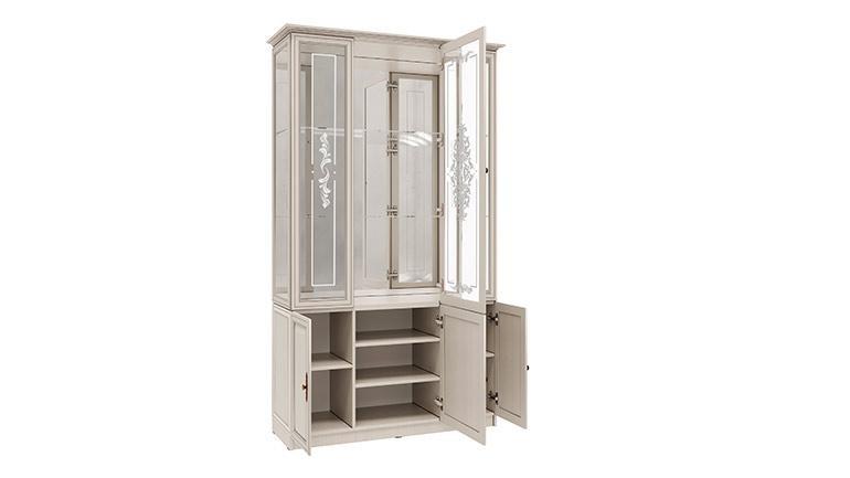 Шкаф с витриной 06.101 Габриэлла (вудлайн кремовый)