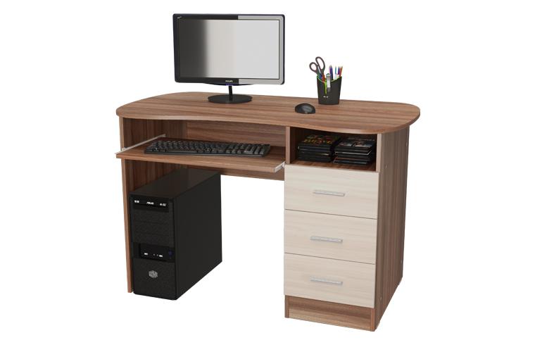 Письменный стол (ясень шимо темный/ясень шимо светлый)