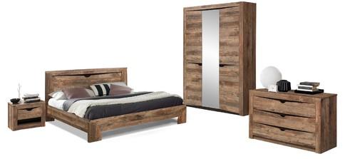Комплект мебели для спальни Лючия 3-х дверный (кейптаун/венге)